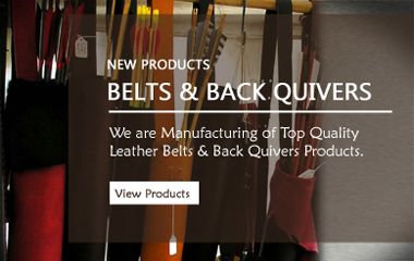 Leather Pent Belts, Leather Back Quivers