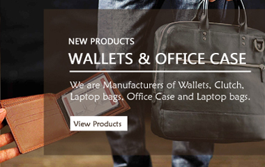 Leather Men Wallets and Ladies Clutches, Leather Office Breifcase