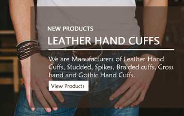 Leather Handcuffs, Leather Bracelet