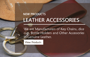 Leather Keychains, leather Dice Cup, Leather KNIFE SHEATHS
