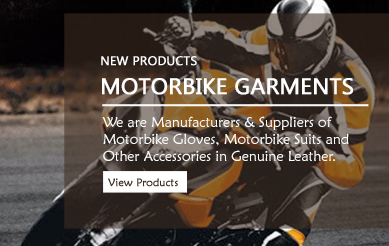 Leather Motorbike Garments, Motorbike Gloves